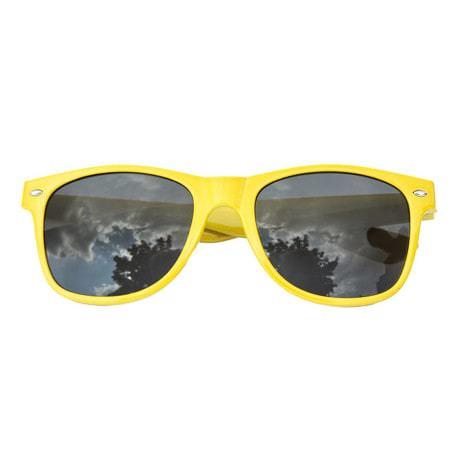 Nerdbrille Hornbrille 80s Retro Nerd Streber Sonnenbrille - gelb