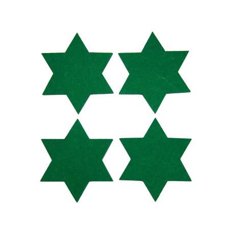 4 Filz Untersetzer Sterne Glasuntersetzer Weihnachtsdeko Adventsdeko - dunkelgrün