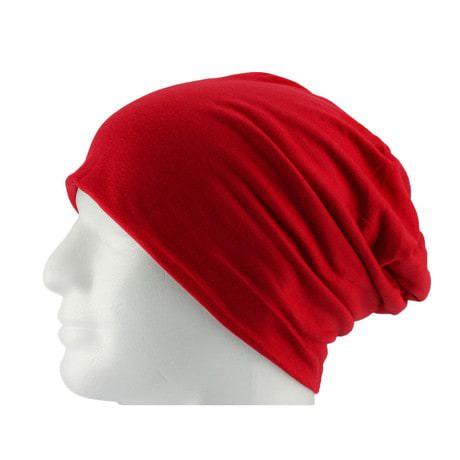 Long Beanie XXL Mütze Slouch Damen Herren Kinder Mütze - chrimson red