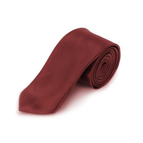 Krawatte Schlips schmal Binder Style - bordeaux