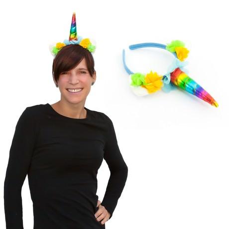 Haarreifen Einhorn Haarreif Unicorn Fasching Karneval JGA Regenbogen