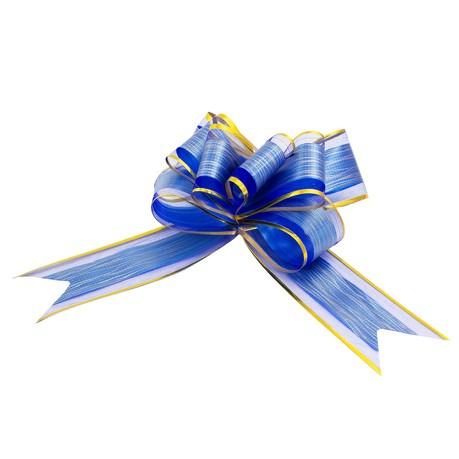 Geschenkschleife Deko Schleifen für Geschenke uvm - blau gold