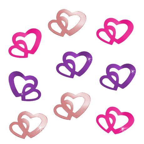 Herz Konfetti Tischdeko Liebe Romantik Hochzeitsdeko - Farbmix