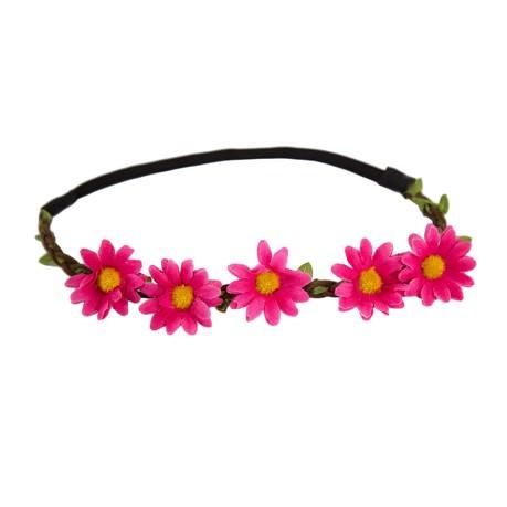 Blumen Haarband Stirnband Haarschmuck Bohemia Kopfschmuck Blumenkranz - pink
