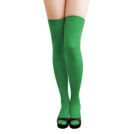 Overknee Strümpfe Sexy Strumpfhose halterlos Karneval Party - grün