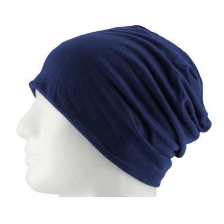 Long Beanie XXL Mütze Slouch Damen Herren Kinder Mütze - navy blue