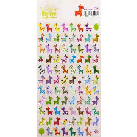 87 Giraffen Sticker Aufkleber Set Deko Kinder