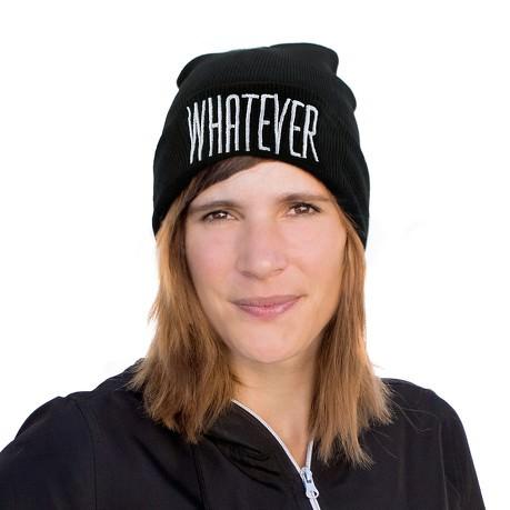 Beanie Mütze Slouch Damen Herren Winter Mützen - WHATEVER