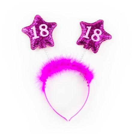 Haarreif Haarreifen 18. Geburtstag Birthday Party - pink