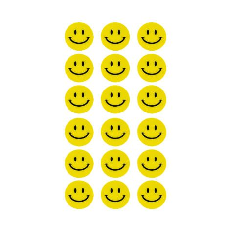 180 Smiley Sticker Aufkleber Lächeln Emoji Smily Face Faces - gelb