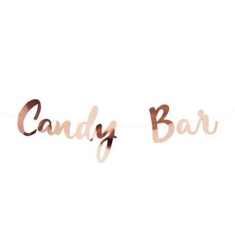 Candybar Girlande Banner JGA Hochzeit Geburtstag Party Feier Deko - roségold