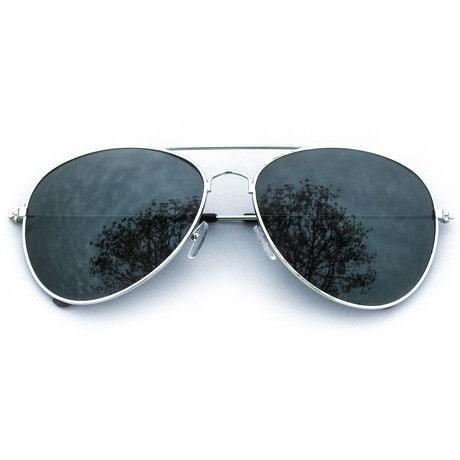 Pilotenbrille Sonnenbrille Herren Damen Flieger silber