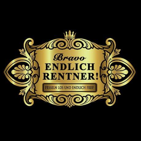 Flaschenetikett Aufkleber Sticker gold elegant - Endlich Rentner