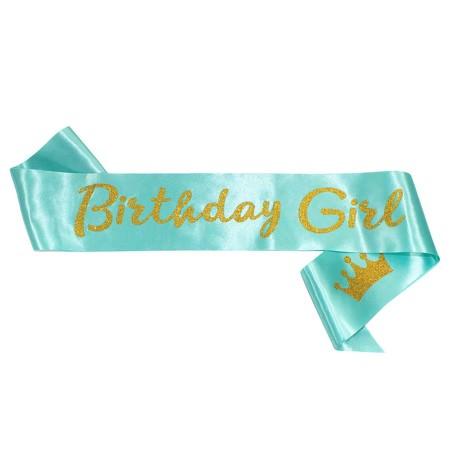 Schärpe Birthday Girl Geburtstag Party Feier Geburtstagsfeier türkis