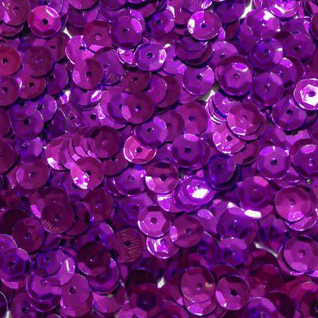 1400 Pailletten Konfetti gewölbt lila