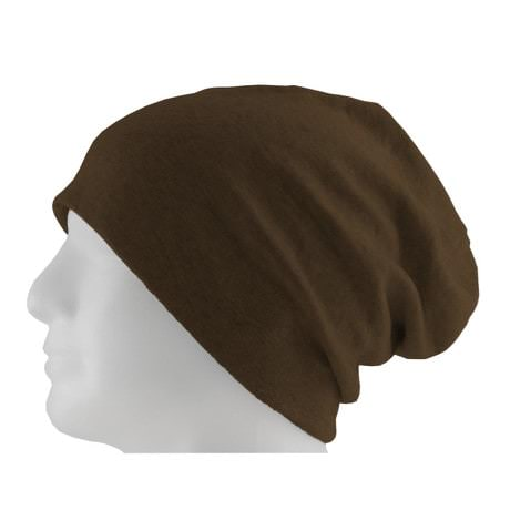 Long Beanie XXL Mütze Slouch Damen Herren Kinder Mütze - chocko brown