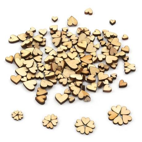 100 Holzherzen Mini Holz Herz Scheiben Holz Dekoration