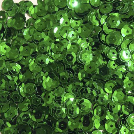 1400 Pailletten Konfetti gewölbt - dunkelgrün