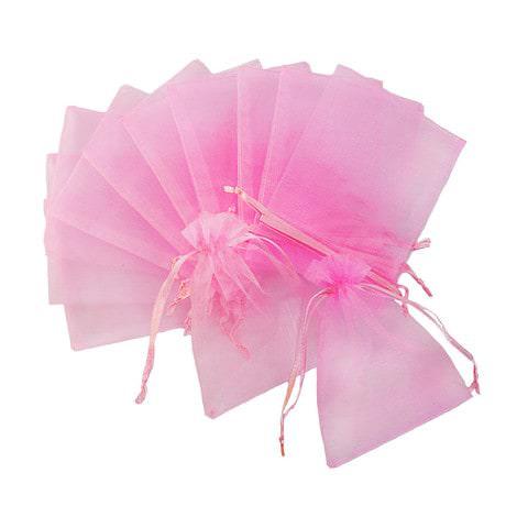 Organzasäckchen Organzabeutel Schmuckbeutel Säckchen Organza rosa