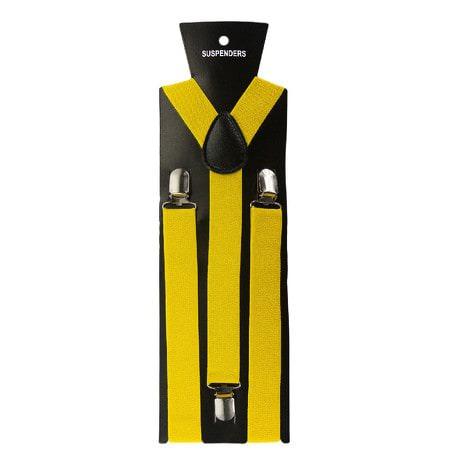 Hosenträger Unisex verstellbar Y -Form - gelb