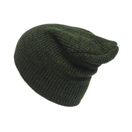 Long Beanie Mütze XXL Damen Herren Kinder Winter Mütze - schwarz-grün
