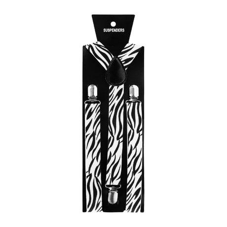 Hosenträger Unisex verstellbar Y -Form - weiß - schwarze Tribals