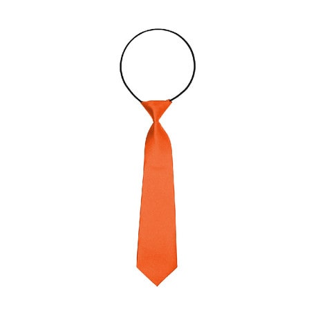 Kinder Krawatte Schlips gebunden dehnbar - orange