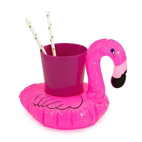 5x Schwimmender Flamingo Getränkehalter aufblasbar Pool Badespielzeug