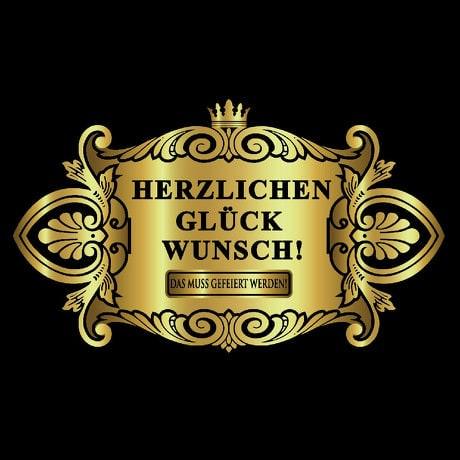 Flaschenetikett Aufkleber Sticker Geburtstag - Herzlichen Glückwunsch