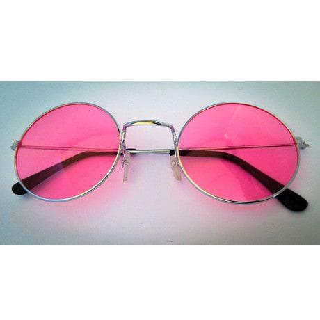 John Lennon Hippie Brille Sonnenbrille  60er 70er Peace - rosa
