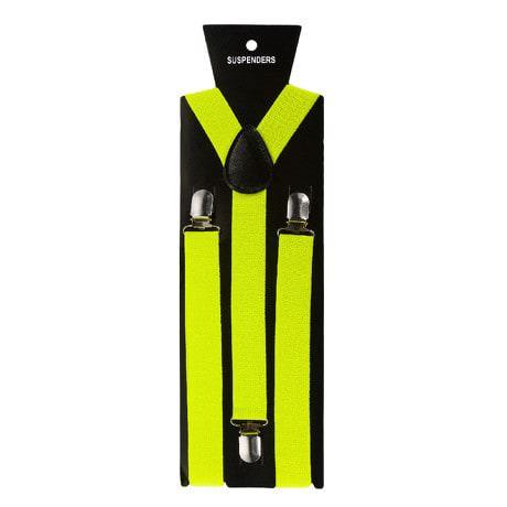 Hosenträger Unisex verstellbar Y -Form - neon gelb