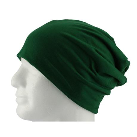 Long Beanie XXL Mütze Slouch Damen Herren Kinder Mütze - dark green