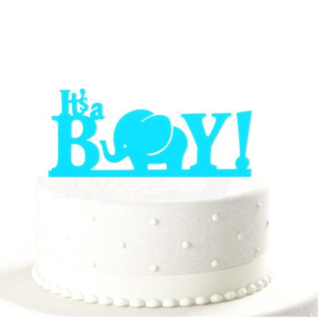 Torten Topper Kuchendeckel Its a Boy Babyshower Baby Acryl