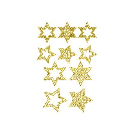 Weihnachtsdeko Gold.10 Sterne Sticker Strass Steine Für Weihnachten Weihnachtsdeko Gold