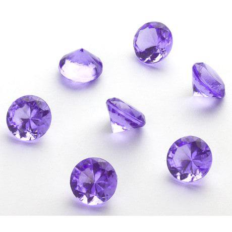 Deko Diamanten Dekosteine Tischdeko Dekoration 20mm - violett
