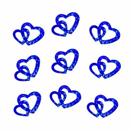 Herz Konfetti Glitzer Tischdeko Streudeko Hochzeit Deko - königsblau