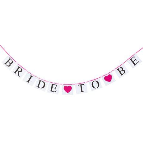 Girlande Hochzeit JGA Junggesellinnenabschied Dekoration - Bride to be