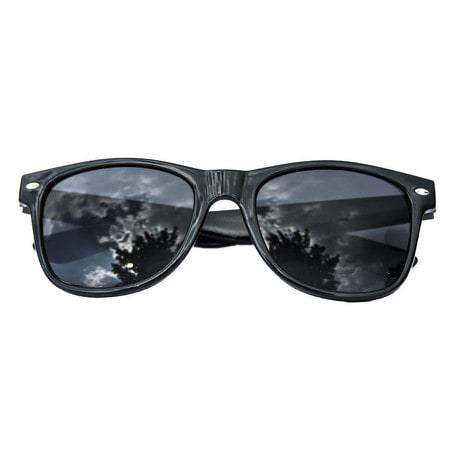 Nerdbrille Hornbrille 80s Retro Nerd Streber Sonnenbrille - schwarz