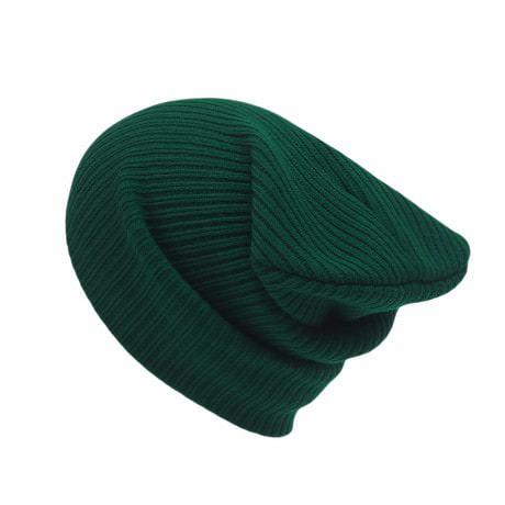 Long Beanie Mütze XXL Damen Herren Kinder Winter Mütze - dunkelgrün