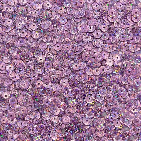 1400 Pailletten Konfetti gewölbt - flieder Glitzereffekt