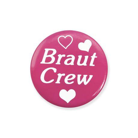 Button JGA Junggesellinnenabschied Hochzeit - Braut Crew