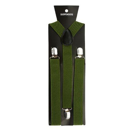 Hosenträger Unisex verstellbar Y -Form - olivgrün
