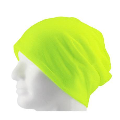Long Beanie XXL Mütze Slouch Damen Herren Kinder Mütze - neon yellow