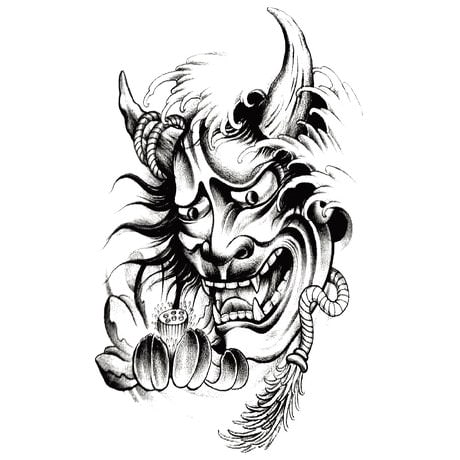 Temporäres Tattoo Klebetattoo Tättowierung - Creedy Devil