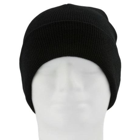 Beanie Mütze Slouch Damen Herren Winter Mützen - Pure black