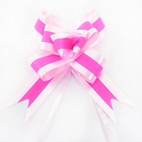 10 Geschenkschleifen mit Geschenkbändern Deko Schleifen - rosa