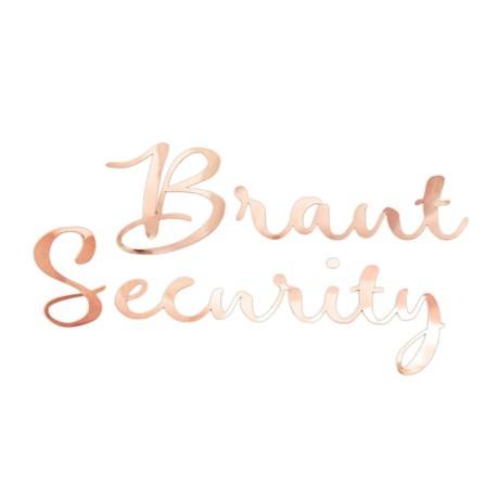 Bügelbild Braut Security Aufbügelbild für JGA Junggesellinnenabschied Hen Party Hochzeit Damen - roségold