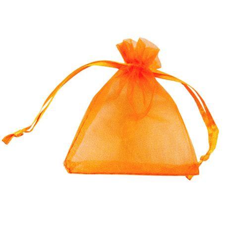 Organzasäckchen Organzabeutel Schmuckbeutel Organza orange