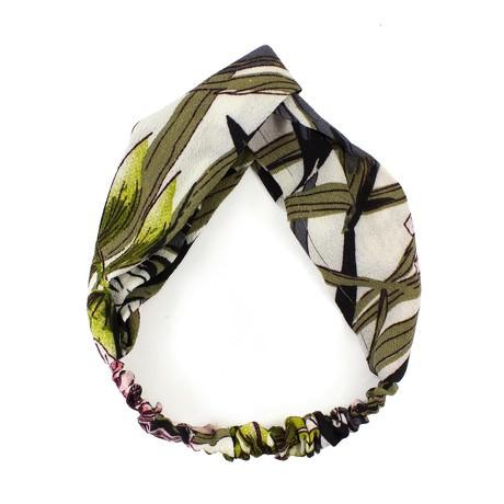 Haarband Stirnband Blumen Motiv Haarschmuck Kopfschmuck -braun schwarz