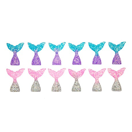 12x Fisch Meerjungfrau Schwanzflosse Flosse Tisch Deko Motto Party Baby Shower